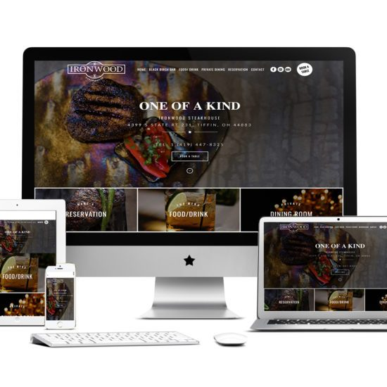 UX website design Nashville restaurant