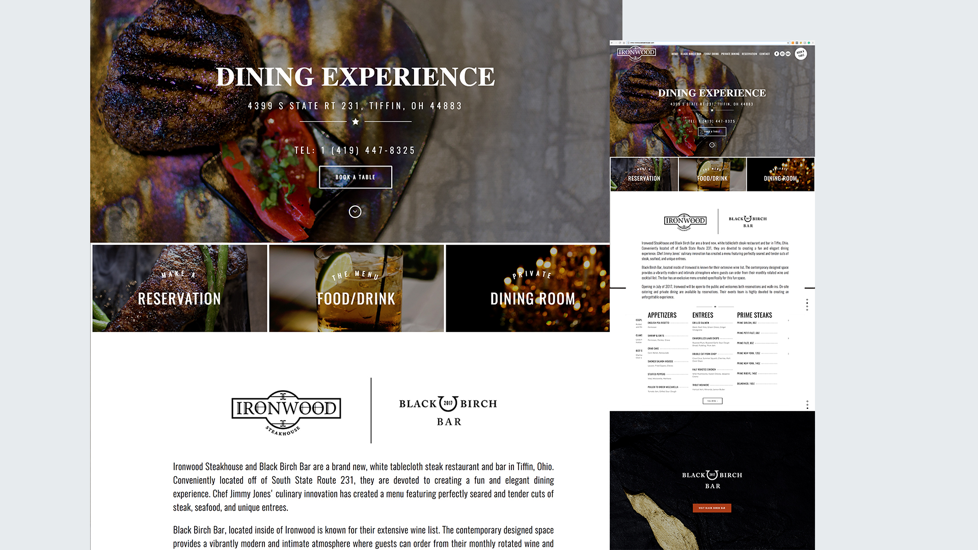 ironwood steakhouse tiffin ohio website